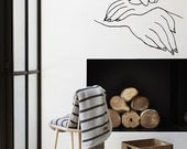"""Wall Art inspired by Picasso's """"War and Peace"""" vinyl wall decal - removable wall sticker for your minimalistic space decor  (ID: 111033)"""