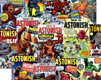 Golden Age Comics (1959) Tales To ASTONISH Complete Run Issue #1-101 {on DVD}