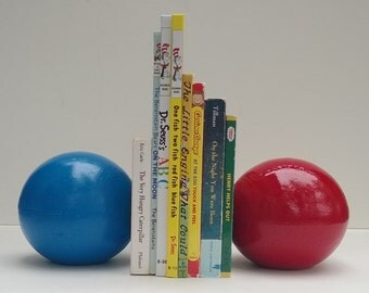 Bookends Cement Balls Bright Red, Blue For Baby & Child