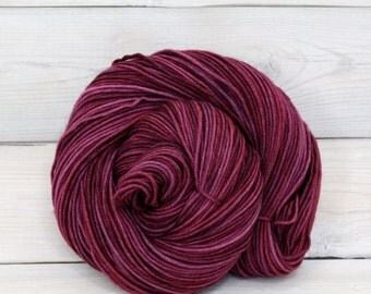Aspen Sport - Hand Dyed Superwash Merino Wool Sport Yarn - Colorway: Sugar Plum
