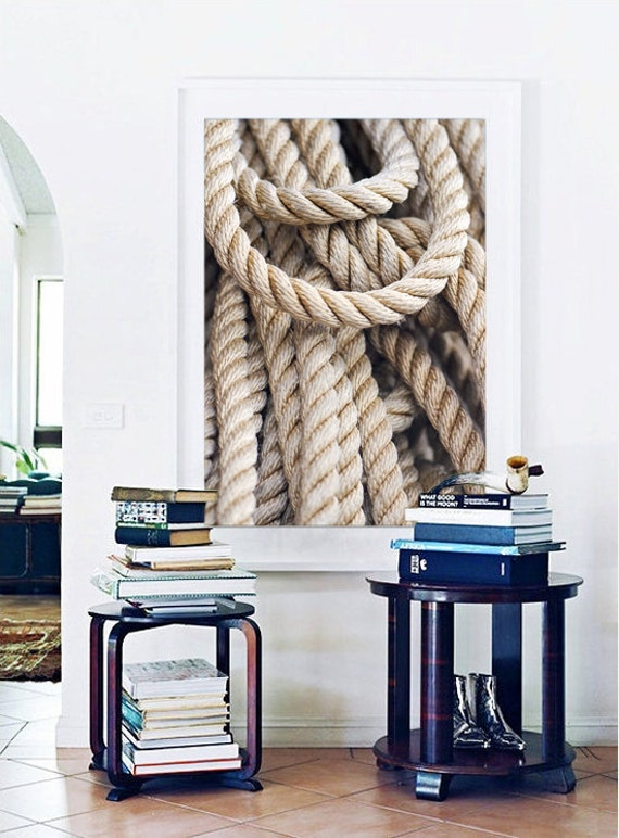 Nautical art fishing rope photo beach photography large for Large nautical rope