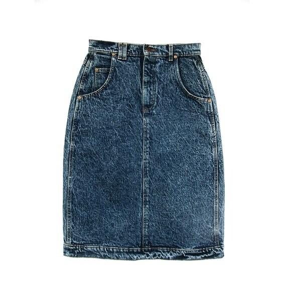 vintage distressed denim skirt classic tag acid