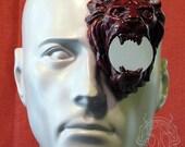 crimson lion latex monocle prosthetic - new color