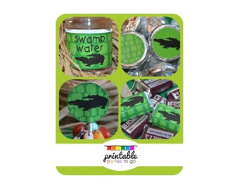 INSTANT DOWNLOAD Gator Printable Party Set - IMPORTANT - Please Read Description Thoroughly Before Purchasing
