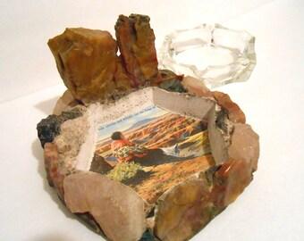 Souvenir Ashtray Native American Kitschy 1960s Grand Canyon Vintage