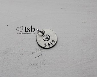 Hand Stamped Circle Charm | Personalized Round | Stamped Disc | Jewelry Making | Handstamped Charm | Personalized Charm | Custom Charm