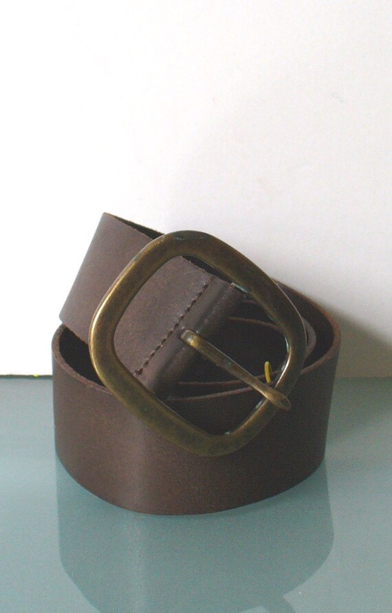 vintage made in italy heavy leather belt