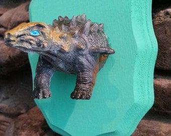 Dinosaur Head Faux Taxidermy Wall Mount