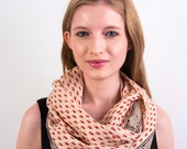 Dainty Flowers Infinity Scarf - Hand block printed, All Natural Vegetable Dyes, 100% Cotton Loop Scarf, Infinity Cowl, Tube Scarf