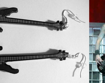 "Rammstein Oliver Riedel richard z kruspe earrings guitar inspired Oliver ""Ollie"" Riedel  Till Lindemann"