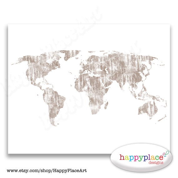 Simple neutral colour wall art world map custom colours te gusta este artculo gumiabroncs Image collections