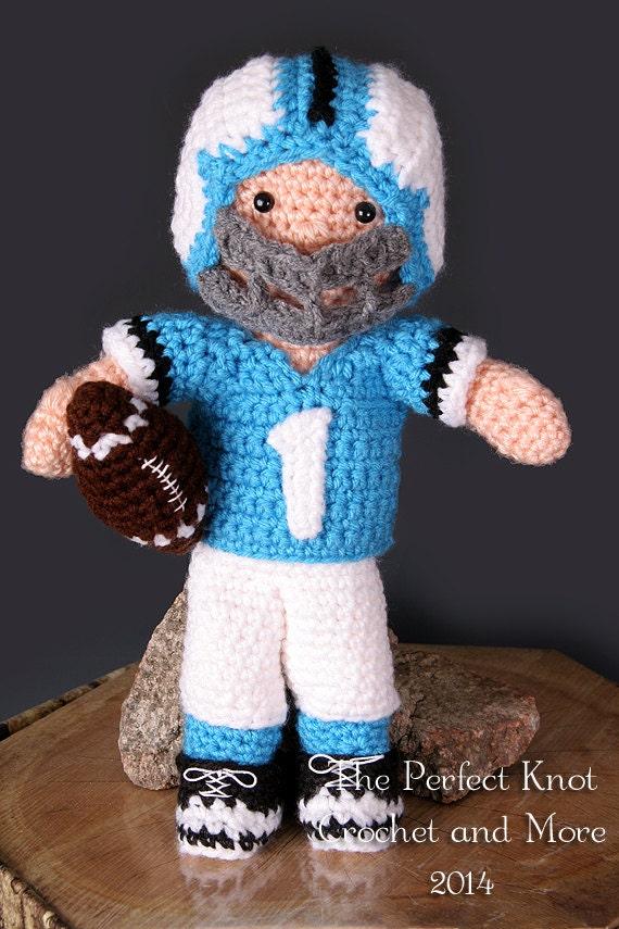 Pdf Crochet Pattern My First Baby Little Boy Blue Football