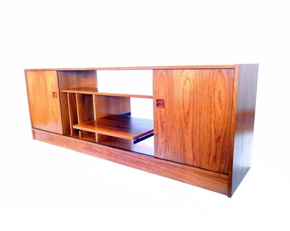 Reserved Mid Century Media Console Credenza Tv Stand Teak