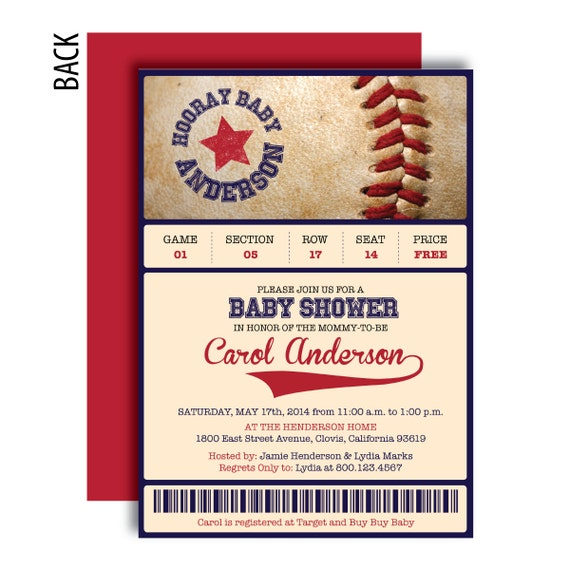 baseball baby shower invitations by graphicdesignbybecky on etsy
