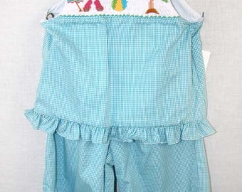 412300-I159 - Ruffle Capri Set - Baby Girl Clothes - Girls Capri Pants - Girls Capris - Girl Capri Pants - Ruffle Capris - Ruffled Capris