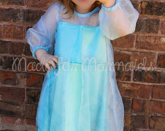 Elsa Frozen everyday princess PDF Pattern instant download 2 years-8 years