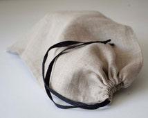 Linen bread bag Reusable keeper Bread bags Natural linens