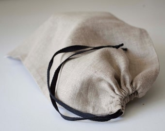 Linen bread bag Reusable keeper Bread bags Natural linens