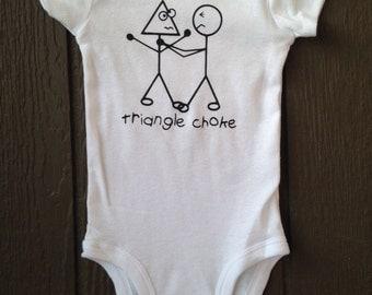Triangle choke jiu jitsu baby bodysuit bjj mma