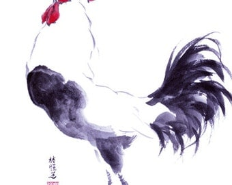 Chinese Zodiac Rooster 8x10 print