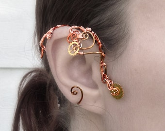 Copper and Cogs Wire Wrap Ear Wrap - Right Ear