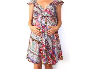 Peru Summer Maternity Dress - Size Small