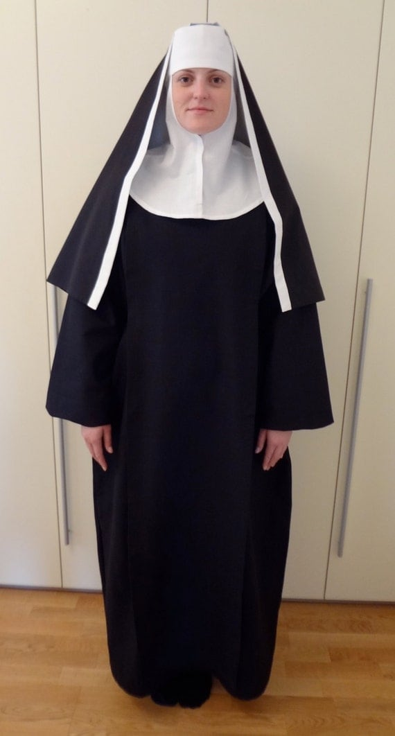 LAST ONE. Authentic nun costume including habit, scapular, wimple and ...