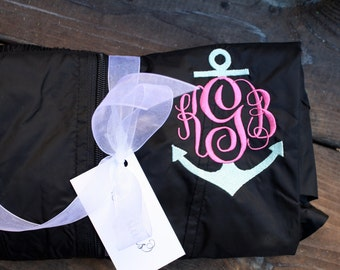 MONOGRAMMED Anchor Hooded Rain Jacket available in sizes S-2XL