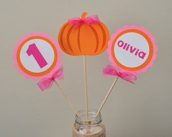 Girly Pumpkin Party Centerpiece Pumpkin Patch Party Decorations