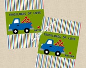 Valentine DIY Printable Fresh & Fun Personalized Truck Card