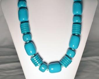 Handmade Teal Beaded Necklace