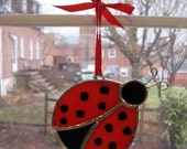 Lady Bug Stained Glass Suncatcher
