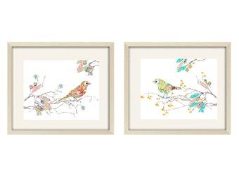 Nursery Art, Baby Girl Nursery Decor Love Birds Decor, Kid's Wall Art, girl nursery art, love birds art , girl nursery decor, modern nursery