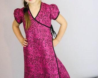Custom Wrap Dress sizes 6-14 Free Shipping