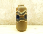 Vintage West German Lava Vase / European Retro / 1960 / Home Decor / Berlin / Ceramics / Funky / Groovy/ Flower Vase/ GDR/ Swinging Sixties