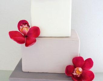 Edible Wedding Cake Gumpaste Flowers Orchids, Fondant Cymbidium orchids for Wedding Cake Topper, Summer wedding cake