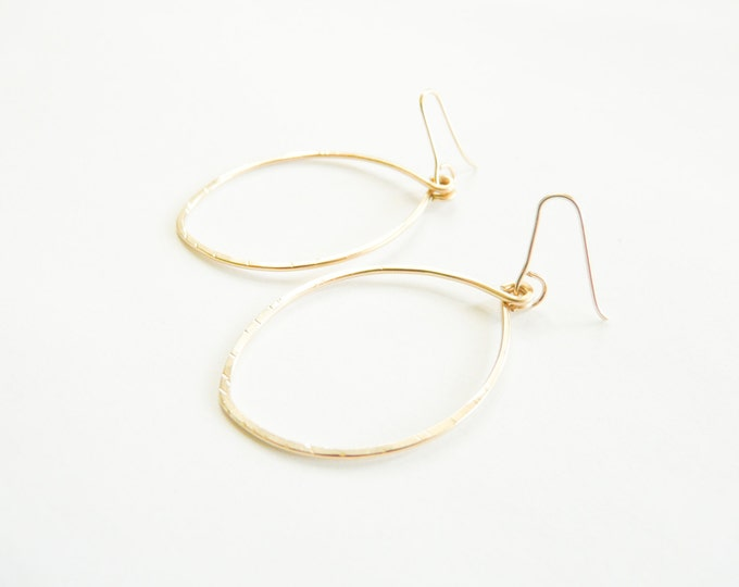 Gold Earrings Small Hoops Women Earrings Handmade Jewelry For Her Under 25