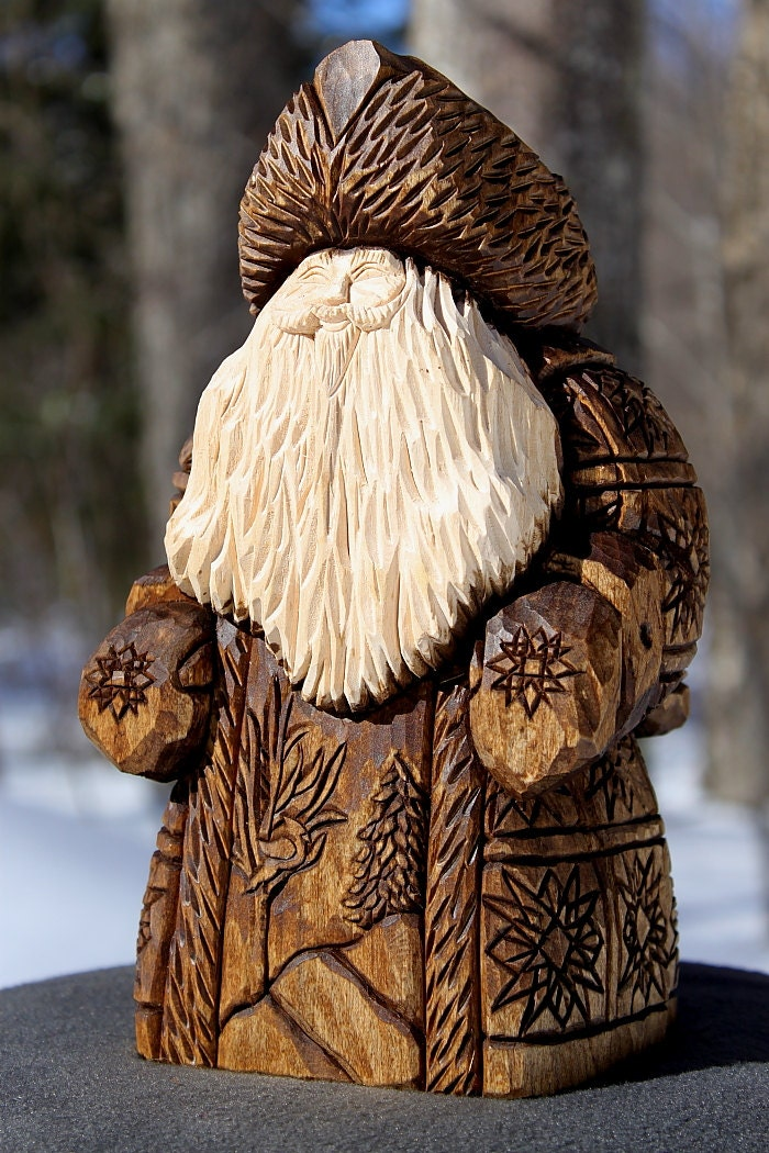 Reserved examples only hand carved custom santa by