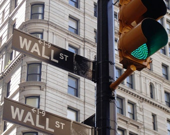 Travel Photography - Fine Art Print - Wall St and Broadway - NEW YORK - Ready To Print 300dpi Jpg - Wall Decor - Instant Download