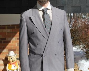Pinstripe Blazer, Double Breast Sport Jacket, Mad Men Style