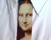Beadwork Seed beads cravate/necklace Monalisa Peyote Stitch