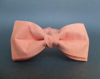 Orange Bow Tie for Men Gift for Men Pre Tied Bow Tie Mens Bow Tie Wedding Bow Tie Womens Bow Tie Unisex Bow Tie Groomsmen Handmade Bow Tie