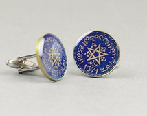 Cufflinks Morocco enamel Coin