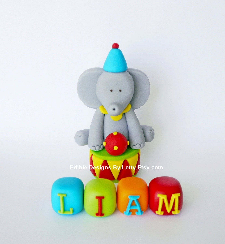 Circus elephant cake topper - photo#6
