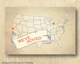 We Ve Moved Map Moving Announcement New House Home Address Change