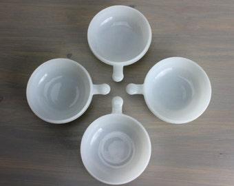 1970s Milkglass Bowls, S/4