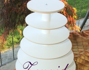 Cupcake Stand 6 Tier Dessert Stand Threaded Rod Style Cupcake Tower Wedding Stand Birthday Donut Stand