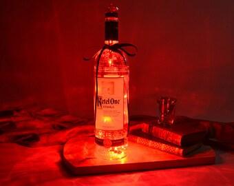 Ketel One Vodka Light Up Liquor Bottle - Lighted Decorated Bottle / Lamp / Bar / Party / Night Light