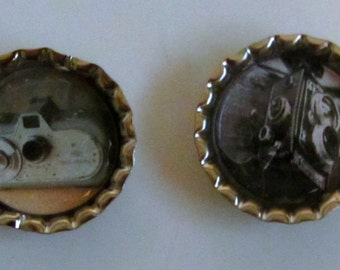 Vintage Camera Bottlecap Magnet Set