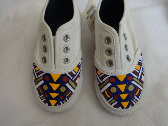 custom painted slip on baby tennis shoes acrylic